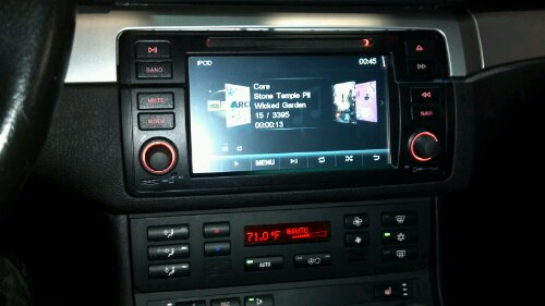 bmw e46 dynavin double din install mobile electronic. Black Bedroom Furniture Sets. Home Design Ideas