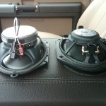 upgraded speaker on left, stock ford speaker on the right