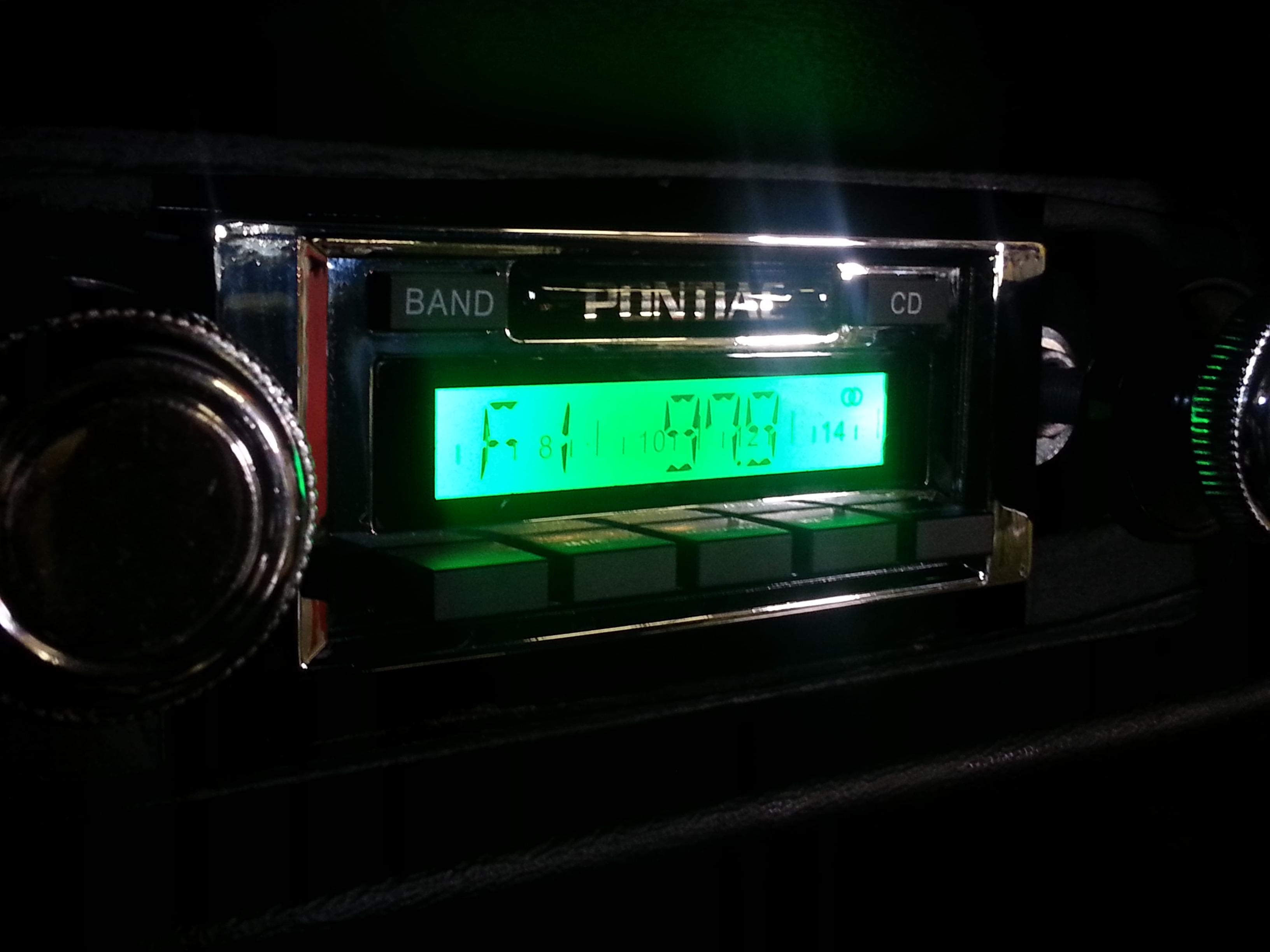 Retro Style Radio Upgrade In Classic Transam